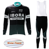 Bora 2018 Pro Team Cycling Jersey Set Winter Thermal Fleece Sport Coat Bike Clothing Bicycle Wear