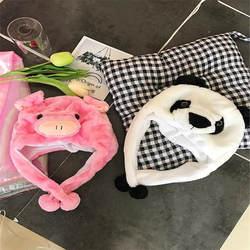 Мультфильм животных милые бархатная пудра поросенок шапка, аксессуары для фотографий косплэй плюшевые игрушки шляпа Рождество Хэллоуин