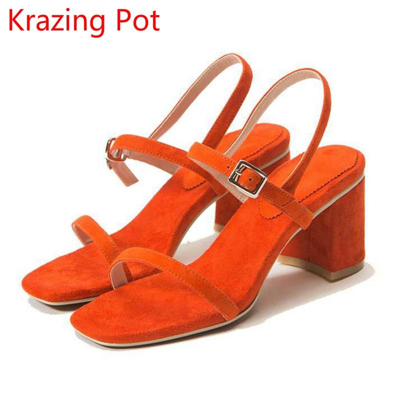Womens orange dress sandals