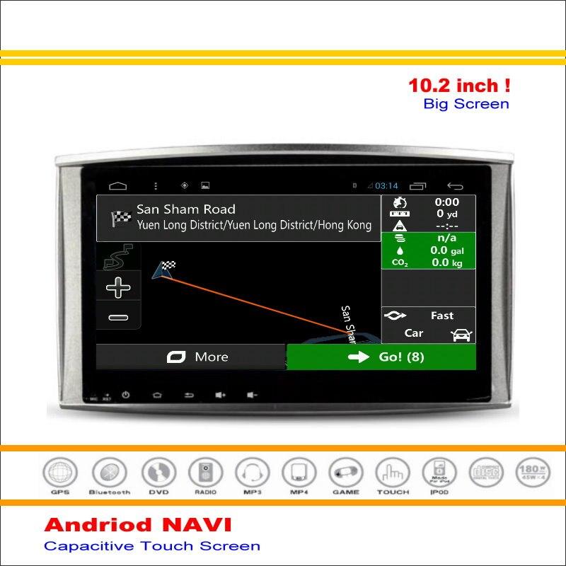Android Sistema de Navegación GPS del coche Para Toyota Land Cruiser LC100 J100