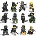 12 шт. Swat Спецназ Полиции Призрак Нападение CS Minifigures с Оружием Фигурку Строительные Игрушки Совместимо с leg0