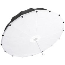 Neewer 42 inches/106 cm Strobe Flash Black White Soft Diffuser Reflector Umbrella Reflective Parabolic Umbrella Aluminum Shaft(China)