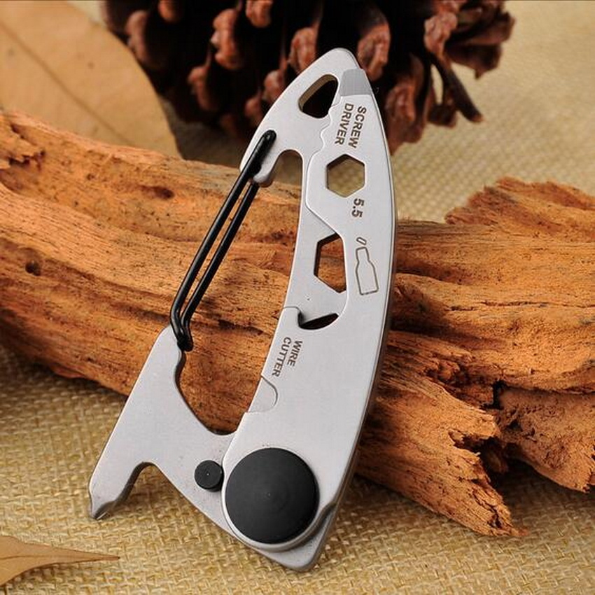 Stainless Steel Outdoor EDC Portable Tools Multi Functional Combination Of Tools Opener Cross Screwdriver Wire Cut Keychain in Outdoor Tools from Sports Entertainment