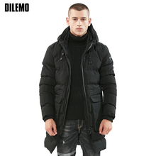 New Fashion Brand Clothing Parka Men Youth Trend Thick Hooded Keep Warm Winter Jacket Men Long  Mens Winter Jackets And Coats