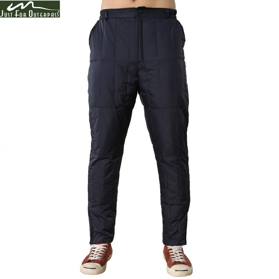 Men Winter Male Casual Straight Warm Thick Pants Trousers