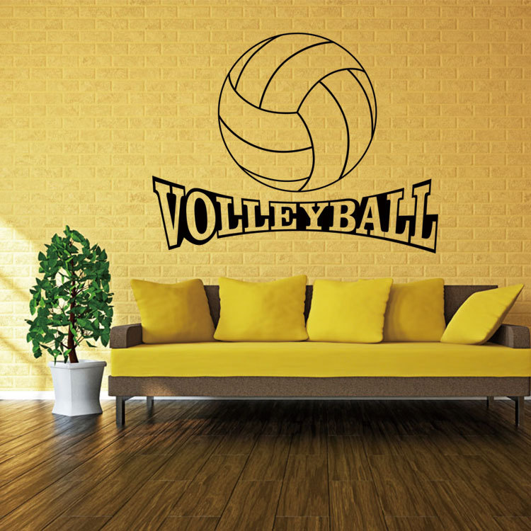 hot volleyball sports wall sticker remove waterproof stickers living room bedroom creative pvc mural vinyl art. beautiful ideas. Home Design Ideas