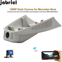 Jabriel для 2014 2018 Mercedes Benz C180 C200 GLC 2018 E200 скрытый Автомобильный видеорегистратор 1080 P Wi Fi Двойная Линза вождение автомобиля регистратор тире камер