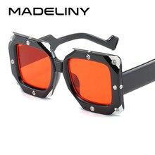 1535951902 MADELINY nuevo cuadrado de lujo gafas de sol de las mujeres 2019 de Marca  Diseño de diamantes Vintage mujer té blanco gafas de s.