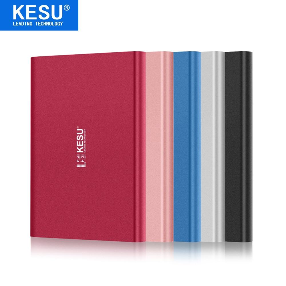 цена на KESU 2.5 Metal Portable External Hard Drive USB3.0 120GB 160GB 250GB 320GB 500GB 1TB 2TB HDD External HD Hard Disk 5 Color