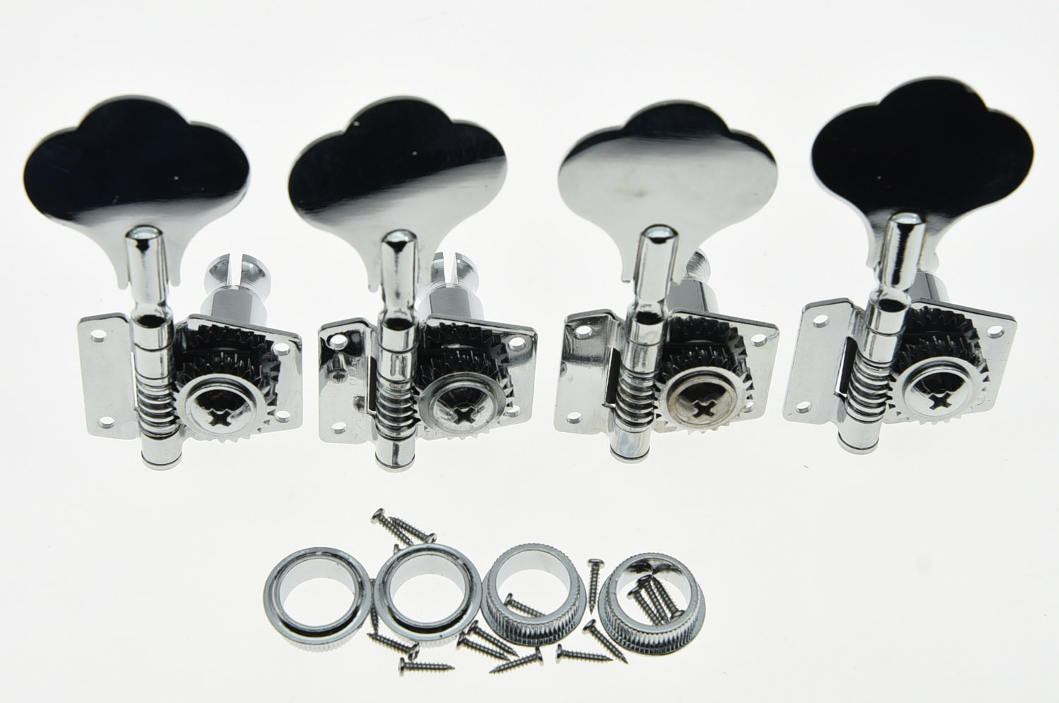 Chrome Bass Guitar Tuners Tuning Keys Pegs Machine Heads for P Bass J Bass 4r electric bass guitar tuners machine heads bass guitar tuning pegs tuning keys buttons chrome guitar parts