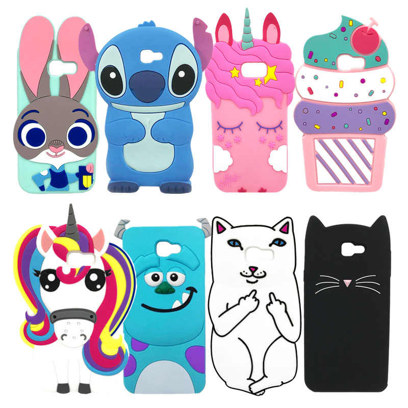 3D Cartoon Phone Case For Samsung Galaxy A3 A5 2017 High Quality Soft Silicone Protective Back Cover Cases For Samsung A320 A520