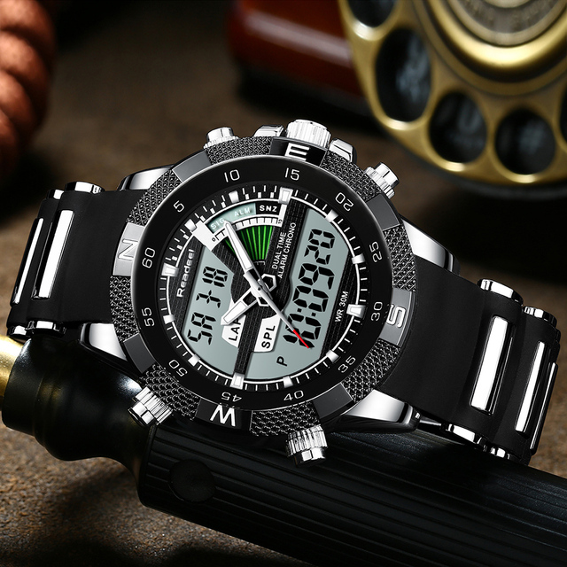 Brand New Luxury Led Quartz Men Watch Digital Army Military Men Sport Watches Clock Male Relogio Masculino Reloj Hombre 1