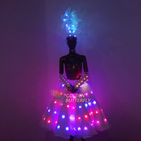 2017 Luminous Dress LED dress Full color color changing luminous conjoined clothes remote control luminous clothes