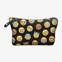 Waterproof Cosmetic Organizer Pouch Makeup bag Printing Funny Face Bag Fashion Women Multifunction Beauty Pocket