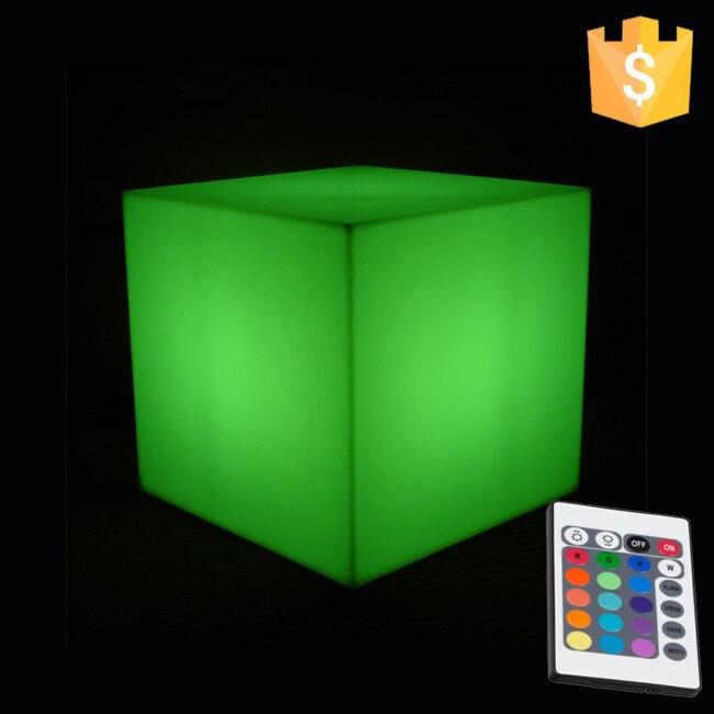 Mini LED cube / illuminated led table lamp / led cube 10cm RGB D10cm PE Decorative Led Cube free shipping 10pcs/lot 2016 new 16 color changing rgb pe material led table lamps lighting for wedding atmosphere night lamp free shipping 4pcs lot