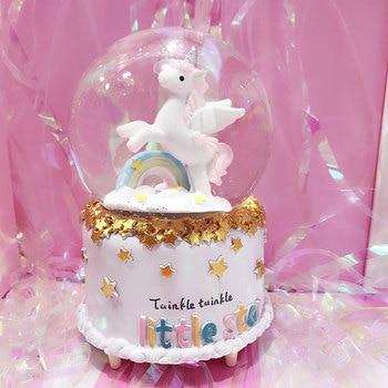 Unicorn Crystal Musical Snow Globe