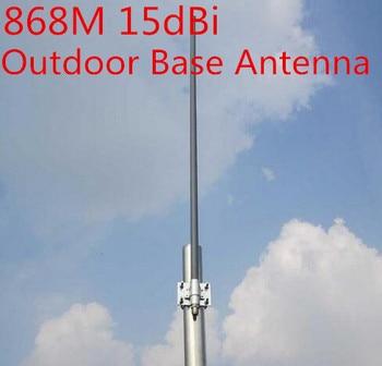 868 MHz de alta gain15dBi deslizamiento base de antena GSM 868 M antena al aire libre techo monitor N Hembra 868 M de fibra de vidrio de antena