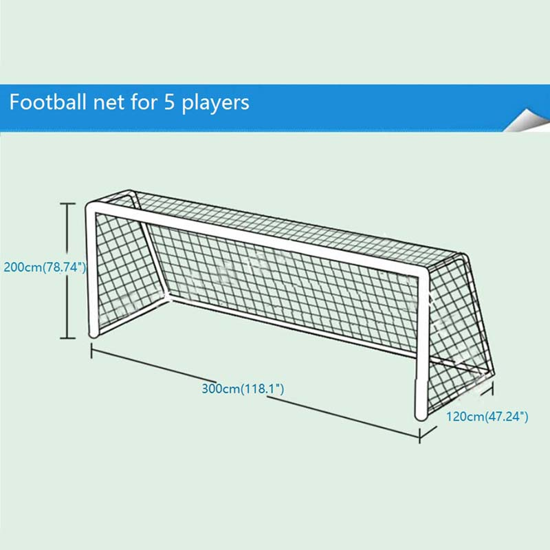 Hot Full Size Football Net for Soccer Goal Post Junior Sports 3