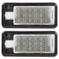 5W Super Bright A Pair Car Styling For Audi 18 LED Number Plate Light