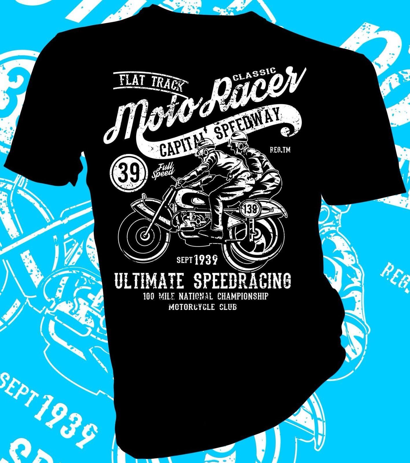 Speedway Flat Track Motorcycle AMA Pro Grandnational heather t-shirt 9143