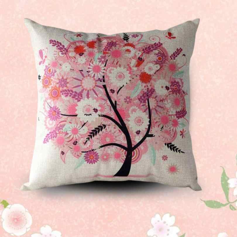 Hoa Cây vỏ gối Gối trang trí ném gối Sofa Eo Ném Gối Trang Trí Nhà