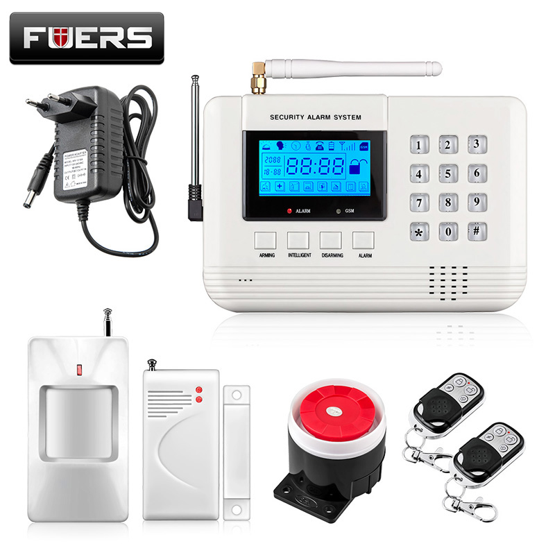 English/Russian/Spanish voice Stable reliable Home Security Alarm System Wireless&wired Dual-Network GSM PSTN Alarm System yobangsecurity dual network gsm pstn home security alarm system lcd keyboard english spanish russian voice prompt alarm sensor