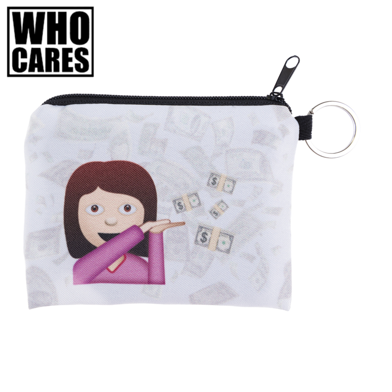 Emoji Sassy Princess Mini Square Coin Purse Wallet Doodle 3d Women Purse Holder Cute Small Zipper Pouch Fashion Female Keys Bags