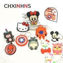 Fashion Anime Keychain Cute Bunny Captain Marvel KT Key Chain for Women Cartoon PVC  Keyring Bag Phone Straps Chain