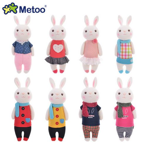 Original METOO Tiramisu Rabbit Dolls Plush Kids Toys 8 Style Stuffed Animal Lamy Rabbit Toy Gifts Original Paper And Plastic Bag