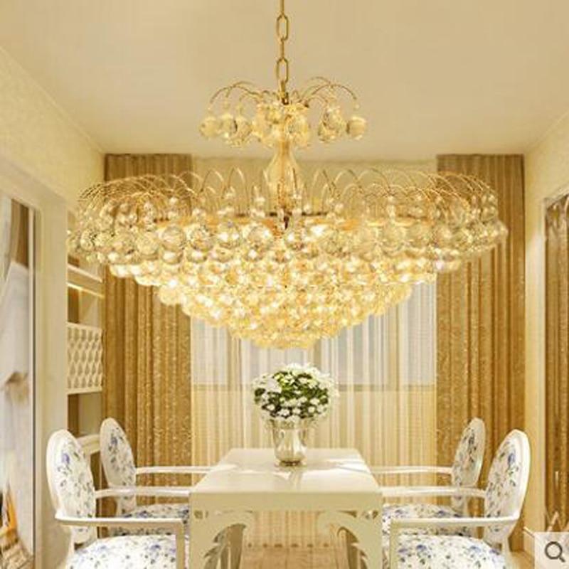 все цены на European crystal led living room dining chandeliers golden bedroom chandeliers crystal lamps restaurant chandeliers lighting LED