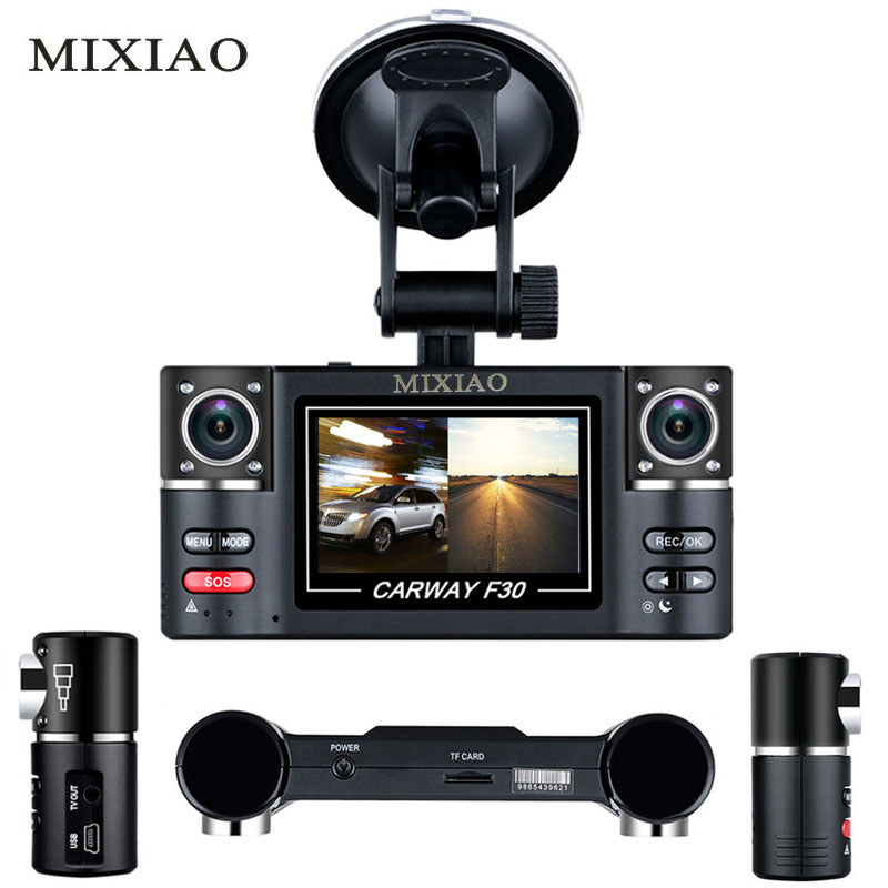"MIXIAO Carway F30 Car DVR 2.7"" TFT LCD HD 1080P Dual Camera Rotated lens Vehicle Driving Digital Night Vision Camcorder"