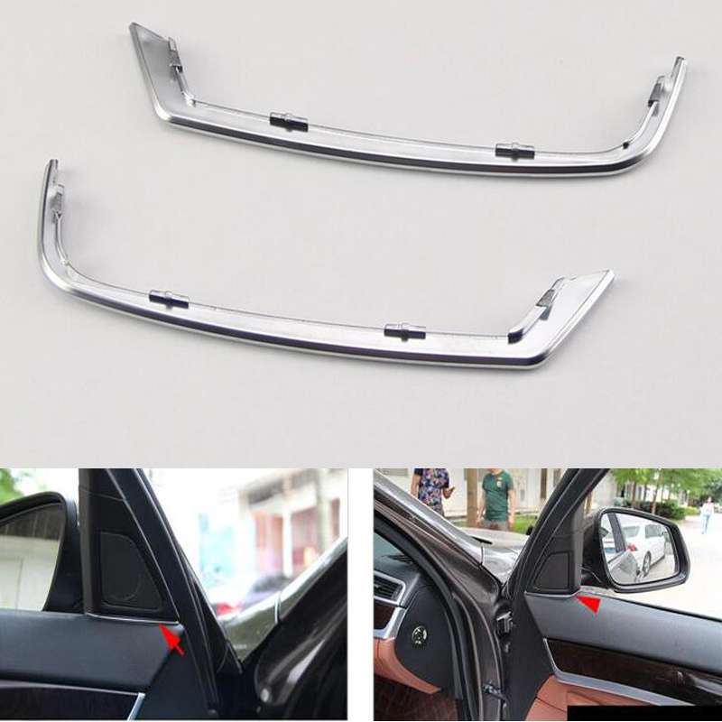 För BMW 5 Series 525 520 F10 2011 2012 2013 Bil Frontdörr Audio Högtalare Strip Stereo Dekal Cover Trim Styling Moulding Sticker