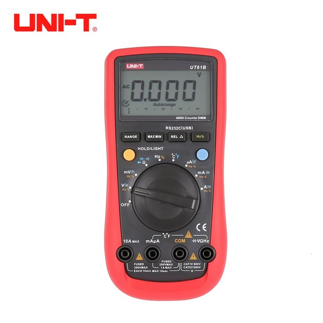 UNI-T UT61A/B/C/D/E Counts Digital Multimeter with Auto Range DC/AC Voltage Current Ohm Capacitance Diode True RMS