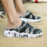 Hausschuhe Männer Hausschuhe Casual Männer Mesh Camouflage Hausschuhe Leichtes Wandern Strand Schuh Sport Sandalen Flip Flop Chanclas Hombre