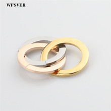 WFSVER 1pcs 2*30mm gold/silver 3circles bracelet charms necklace pendant stainless steel accessoriesfor women Diy Jewelry making