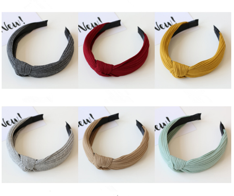 1 Pc Velvet Twist Headband Knot Cross Tie Solid Fashion Hair Band Hairband Knitted Rib Girls Bow Hoop Hair Accessories Complete In Specifications Apparel Accessories