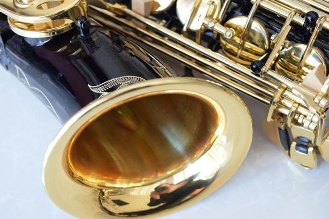 2017 Alta Qualidade Instrumentos Musicais Saxophone alto Sax E Profissional-plana Saxophone Sax alto Preto saxophone alta 9