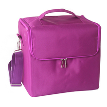 Women professional makeup Organizer Storage Case large capacity shoulder Cosmetic Bag Multilayer Toolbox Bolso Mujer Suitcase