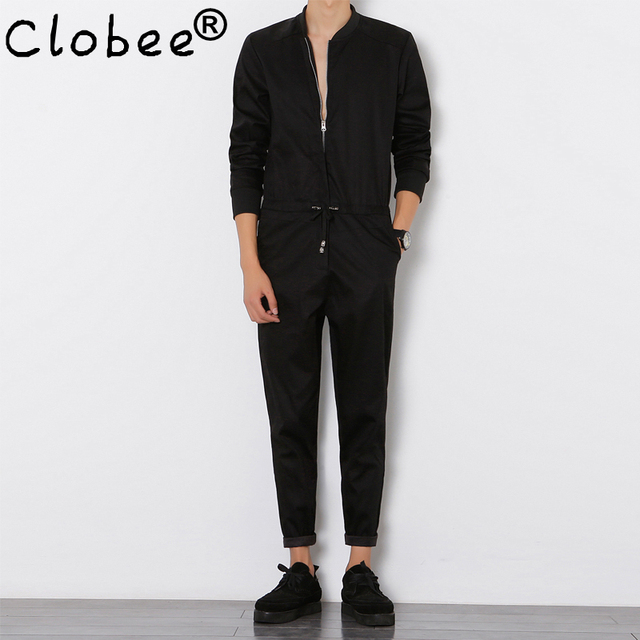 75757bd948 Clobee Herren Overall Langärmelige Overalls Männlichen Elegant Kühlen  Overalls Slim Fit Harem Pants Hip-Hop