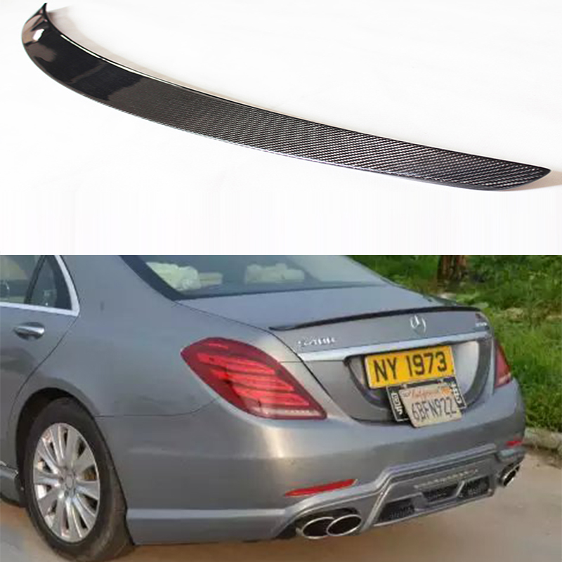 W222 AMG Style Carbon Fiber Car Rear Trunk Spoiler Wing For Mercedes Benz W222 2014-2016 футболка print bar mercedes amg s 63 w222