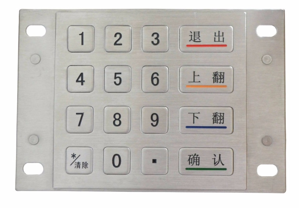 Metal Numeric keypad Bank password keyboard Metal mechanical Keypad numeric keypad 19 keys