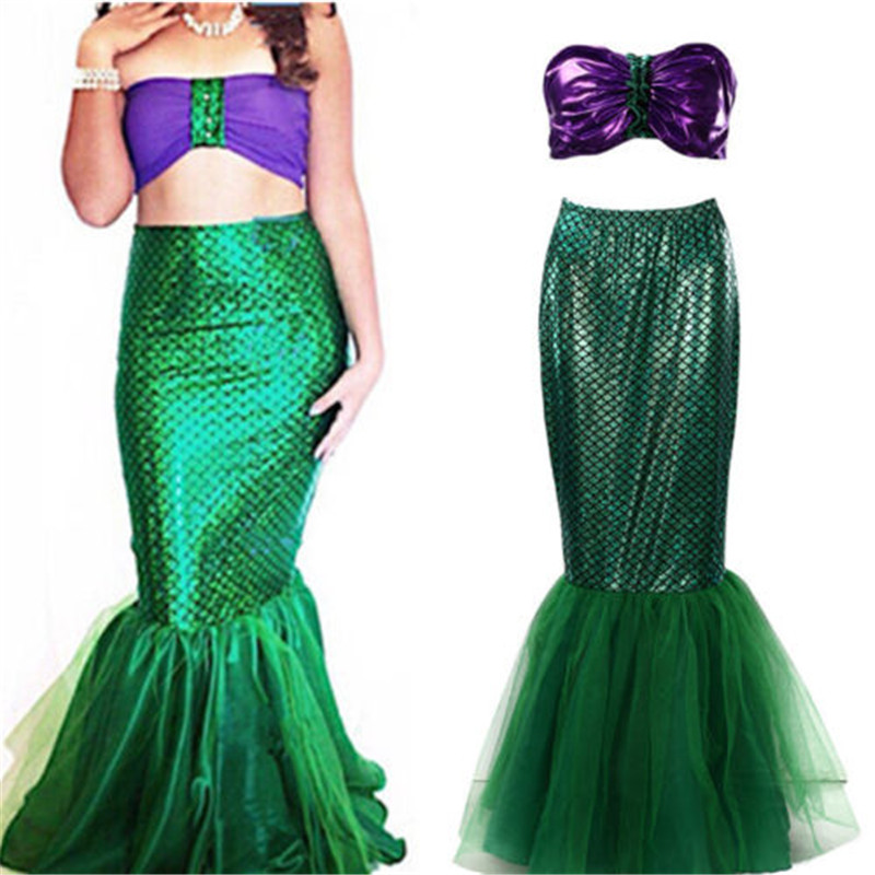 Summer Fantastic Skirts Women Sequin Mermaid Skirt For Cosplay Party Costume Faldas Mujer