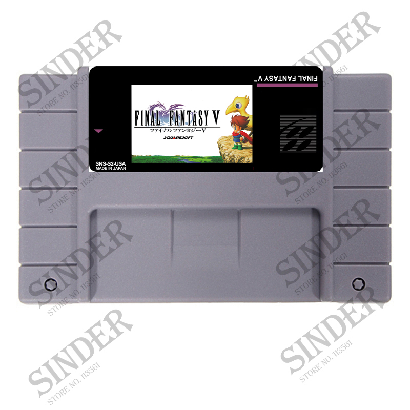 Final Fantasy 5 16 bit tarjeta Super juego para 46 Pin jugador del juego