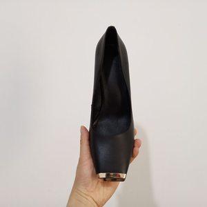 Image 5 - ALLBITEFO ขนาด: 33 41 ของแท้หนังสแควร์ toe ผู้หญิงส้นสูงรองเท้าโลหะ toe รองเท้าส้นสูงฤดูใบไม้ผลิผู้หญิงปั๊ม party ผู้หญิงรองเท้า