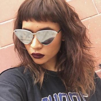 Cat Eye Sunglasses for Women Famous Brand Designer Ocean Clear Lens Sun Glasses Female Vintage Cateyes Shades Glasses
