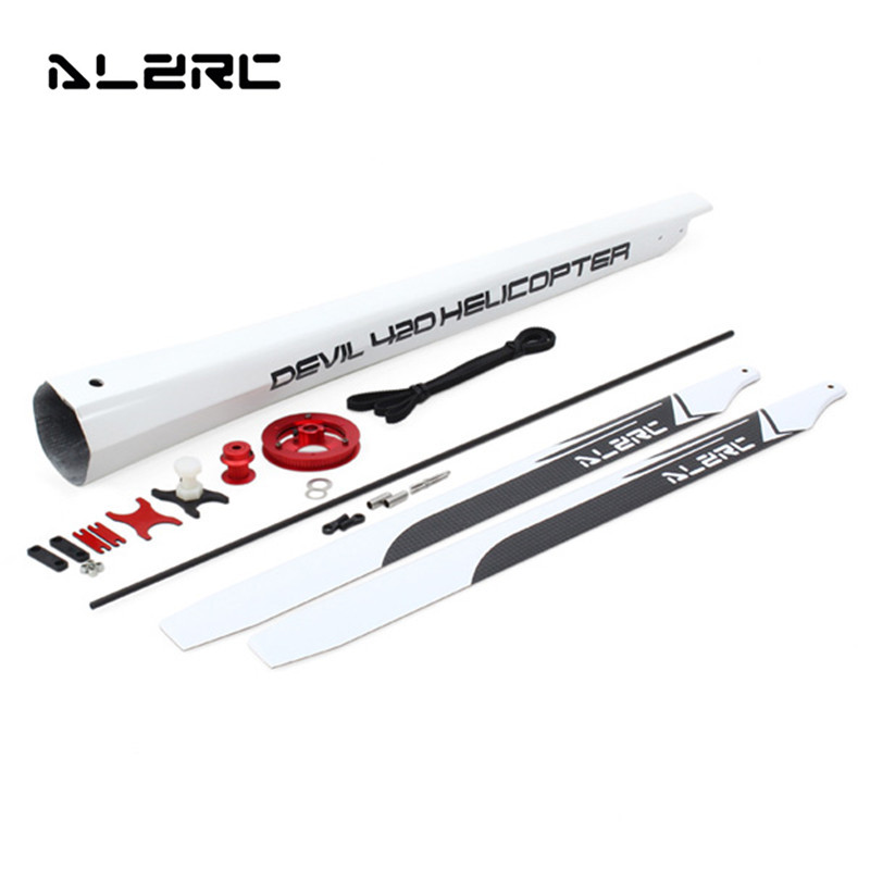 ALZRC Devil 420 FAST Upgrade Set for Devil 380 FAST For RC Helicopter Parts DIY Toy Models Parts alzrc devil 380 fast fiberglass painting canopy set s a s b