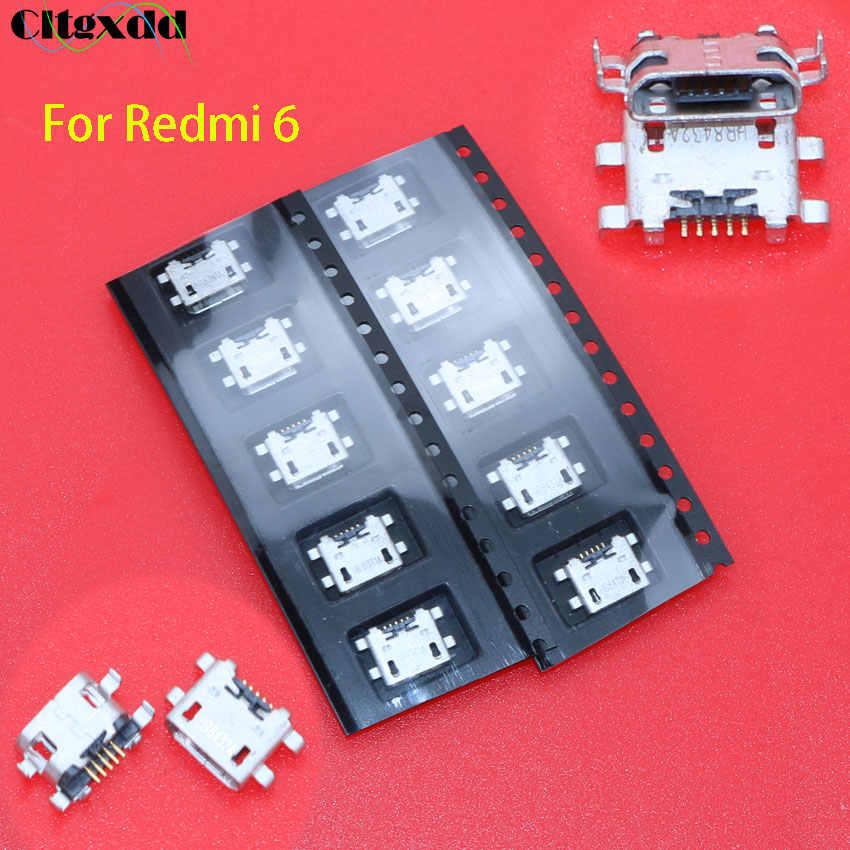 Cltgxdd 1 〜 100 ピースマイクロ USB コネクタ 5pin USB ジャックソケットメス充電ポート xiaomi Redmi 4A 4 × 5 プラス 5 プラス 6 注 5A