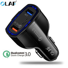 OLAF Car Charger Dual USB Quick Charge 3.0 QC3.0 Mobile Phone Charger Type C PD Fast Charge For iPhone X 7 Samsung Phone Charger(China)