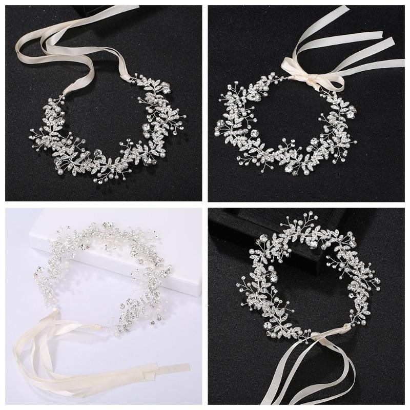 Bride Headband Handmade Bridal Headpiece vintage Tiara Wedding Hair Accessories Vintage Headbands for women hair jewelry