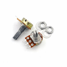 5PCS/LOT 20mm Shaft WH148 B5K 5K Linear Potentiometer With Nuts And Washers 3pin Single Joint